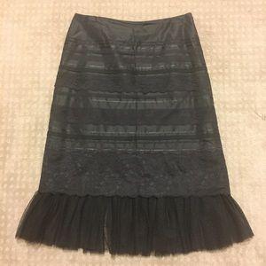 Express lace pencil skirt